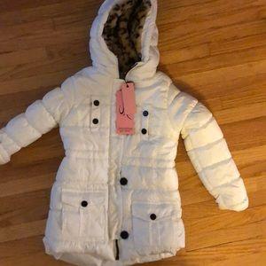 Brand New white toddler coat